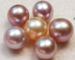 PARCEL OF 6 AAA GRADE ROUND PEARLS HIGH LUSTER- 7 MM  PF2330