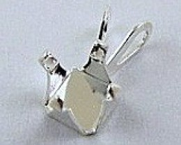 STERLING SILVER 6 MM SQUARE PENDANT CASTING MOUNT 4 PRONG