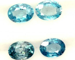 BLUE ZIRCON FACETED STONE (4 PCS) 5 CTS PG-1362