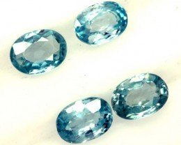 BLUE ZIRCON FACETED STONE (4 PCS) 5 CTS  PG-1366