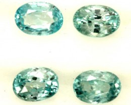 BLUE ZIRCON FACETED STONE (4 PCS) 6 CTS  PG-1357