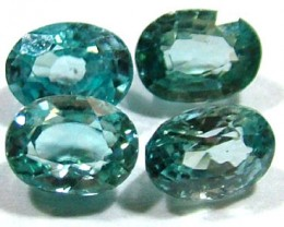 BLUE ZIRCON FACETED STONE (4 PCS) 6 CTS  PG-1356