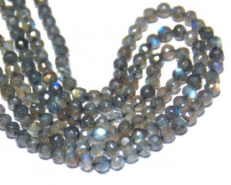 SALE from $50 AAA faceted LABRADORITE beads 5mm 14 in line lab005