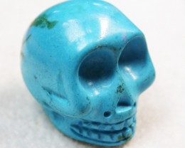 57.35 CTS  TURQUOISE LIKE SKULL CARVING [MGW146]