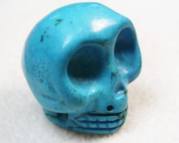 54.50 CTS  TURQUOISE LIKE SKULL CARVING [MGW148]