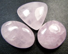 PARCEL 3 ROSE QUARTZ GEMSTONES 144 CARATS  RT202