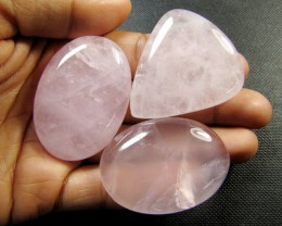 PARCEL 3 LARGE  ROSE QUARTZ GEMSTONES  280 CARATS  RT213