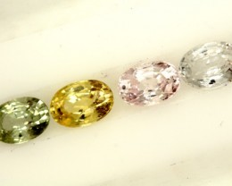 MULTI COLOURED SAPPHIRE FACETED(4PCS)2.50CTS  PG-1401