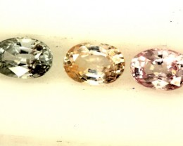 MULTI COLOURED SAPPHIRE FACETED(3PCS)1.50CTS  PG-1403