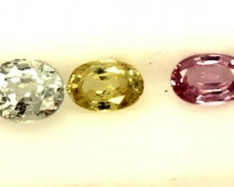 MULTI COLOURED SAPPHIRE FACETED(3PCS) 2 CTS PG-1399
