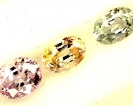 MULTI COLOURED SAPPHIRE FACETED(3PCS)2.50CTS  PG-1438