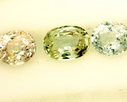 MULTI COLOURED SAPPHIRE FACETED(3PCS)2.50CTS PG-1402