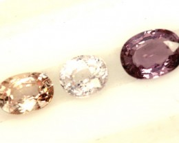 MULTI COLOURED SAPPHIRE FACETED(3PCS)3.50CTS  PG-1400