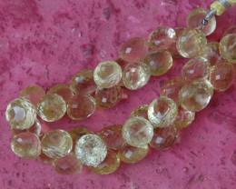 Large 11mm - 12mm Lemon Quartz briolettes onion shape 8""