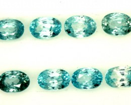 BLUE ZIRCON FACETED STONE (8 PCS) 7 CTS PG-1406