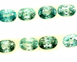 BLUE ZIRCON FACETED STONE (8 PCS) 7 CTS  PG-1395