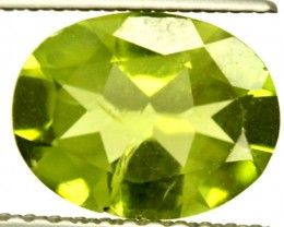 PERIDOT FACETED STONE 1.65 CTS PG-858