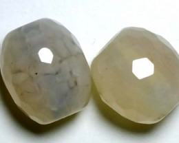 WEB AGATE DRILLED NATURAL 2PC 37.55CTS NP-1233