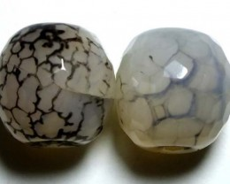 WEB AGATE DRILLED NATURAL 2PC 35.75CTS NP-1235