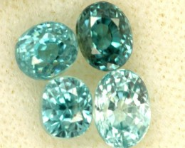 BLUE ZIRCON FACETED STONE (4 PCS) 2.60 CTS   PG-1455