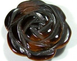 TIGER EYE FLOWER CARVING STONE 18 CTS LT-256
