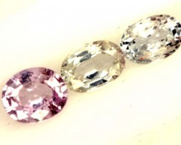 MULTI COLOURED SAPPHIRE FACETED(3PCS) 2CTS  PG-1427