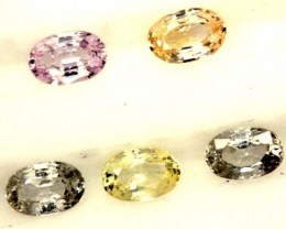 MULTI COLOURED SAPPHIRE FACETED(5 PCS) 3.50CTS  PG-1439