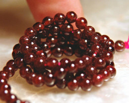 15.5 Inch 74.5 ct Garnet Strand - Gorgeous - 4.3mm - 100 pcs