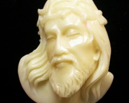 57.30 CTS IVORY FROM PALM  QUALITY  CARVING [MGW402]