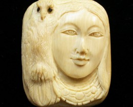 39.00 CTS MAMMOTH  FOSSIL IVORY CARVINGS [MGW465]