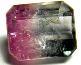 2.35CTS  BI-COLOUR TOURMALINE FACETED STONE   PG-1845