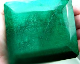 2510 CTS MASSIVE EMERALD FACETED GREEN COLLECTOR PC  RAS