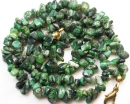 119.05 CTS COLUMBIAN EMERALD NECKLACE   [MGW554]
