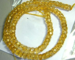 CITRINE BEADS FACETED RONDELLE  166 CTS NP-1949