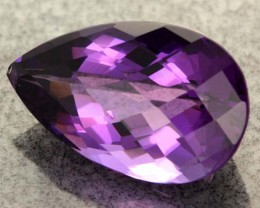 11.80 CTS VS  RICH DARK  AMETHYST  STONE WELL CUT  [S6446]