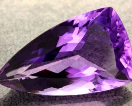 33.50 CTS VS  RICH DARK  AMETHYST  STONE WELL CUT  [S6447]