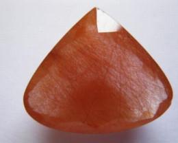 22 carat FACETED BRIGHT RED RUTILE QUARTZ CRYSTAL GEM