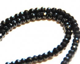 *NEW STOCK* AAA+ BLACK SPINEL diamond polished beads