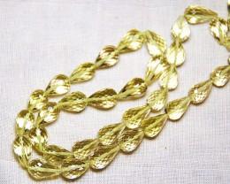 """REDUCED FROM $80 GOLDEN LEMON Quartz faceted beads 15"""" line"""