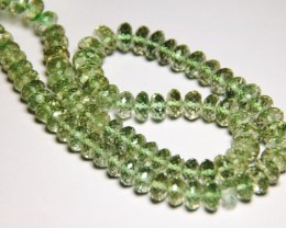 "SALE GREEN AMETHYST faceted beads 7 to 8mm 16"" line amg005"