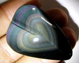 MEXICAN CHATOYANT OBSIDIAN 56.05 CARATS  RT608