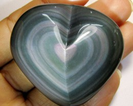 MEXICAN CHATOYANT OBSIDIAN 236  CARATS  RT 612
