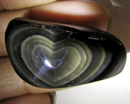 MEXICAN CHATOYANT OBSIDIAN 51.15 CARATS  RT628
