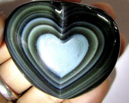 free ship MEXICAN CHATOYANT OBSIDIAN  226 CARATS  RT 625