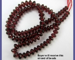 SUMPTUOUS AAA 4.5-6.5MM MOZAMBIQUE GARNET FACETED ROUNDELS!!