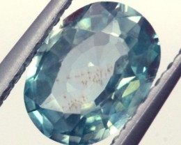 BLUE ZIRCON FACETED STONE 0.85 CTS  PG-1036