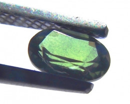 0.65ct Light Green Natural Sapphire mined in Queensland