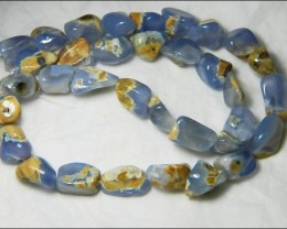 Natural Chalcedony In Matrix Tumbled Beads B836