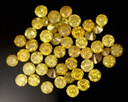 1.02 CTS (50pcs) BRIGHT AUSTRALIAN YELLOW DIAMONDS  [DC433]