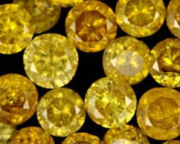 1.05 CTS (50pcs) BRIGHT AUSTRALIAN YELLOW DIAMONDS  [DC434]